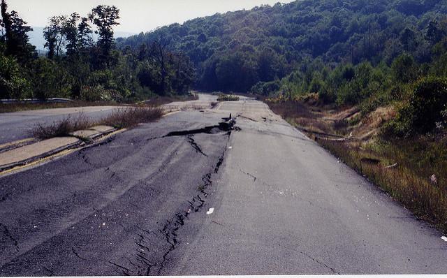 Centralia abandoned highway