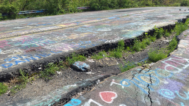 Centralia, PA - Abandoned Highway - Rt 61 - Crack