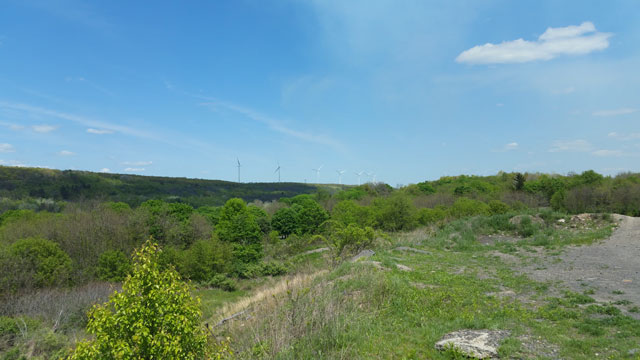 Centralia, PA - View of Windmills From Mounds Near SS Peter and Paul Orthodox Cemetery