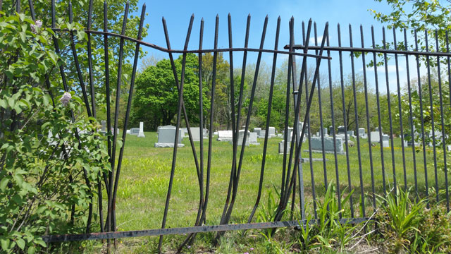 Centralia, PA - Odd Fellows Cemetery Damaged Fence