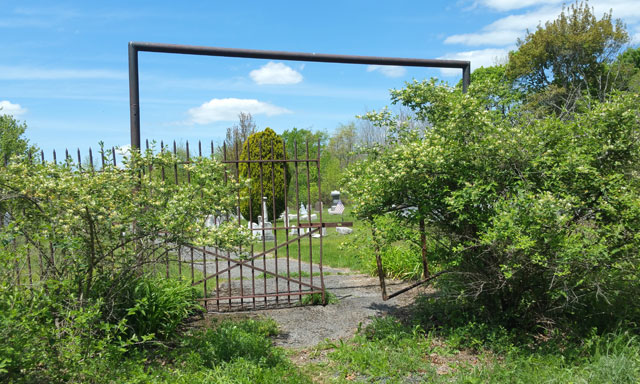 Centralia, PA - Broken Gate at Rear of Odd Fellows Cemetery