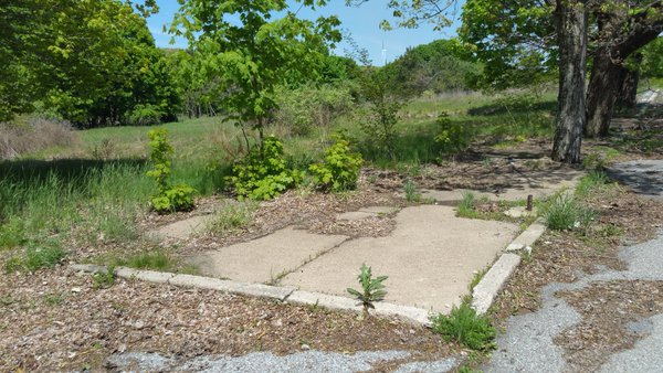 Centralia, PA - Abandoned Corner Lot and Sidewalk