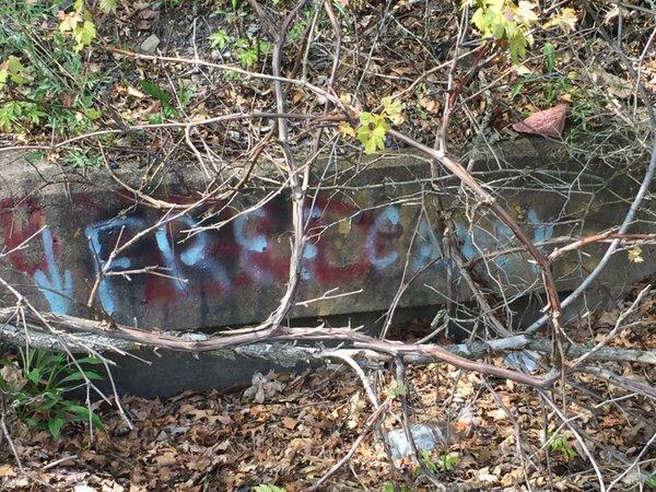 """Centralia, PA - Abandoned Highway - Rt 61 - """"Free Candy"""" Grafitti"""