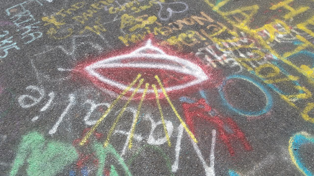 Centralia, PA - Abandoned Highway - Graffiti - Flying Saucer