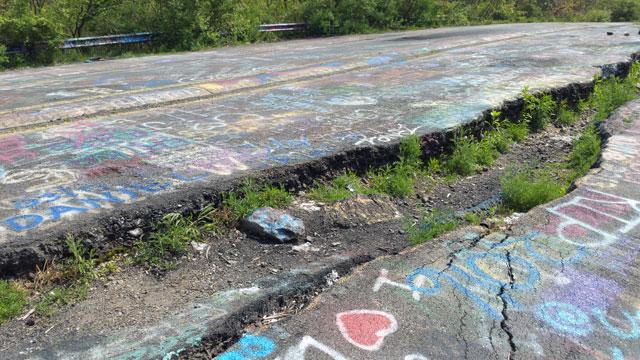 Centralia, PA - Abandoned Highway - Rt 61 - Crack