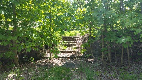 Centralia, PA - Stone Steps to Empty Lot